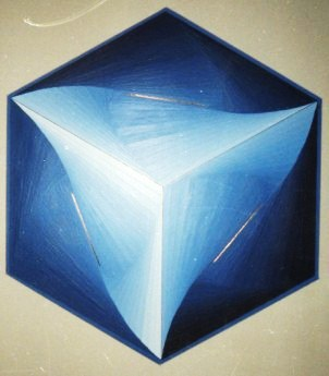 224 - Revolving squares  Nr. XIII in blue [60x40]